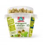 ΔΕΛΤΑ στραγγιστό γιαούρτι 2% Ζουμερές ελιές με μυρωδικά και κρητικά κριτσινάκια 150g