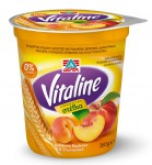 ΔΕΛΤΑ Vitaline επιδόρπιο άπαχου γιαουρτιού ροδάκινο, βερίκοκο & δημητριακά 380g