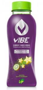 VIBE by LIFE Energy Juice Drink Kiwi & Starfruit 330 ml