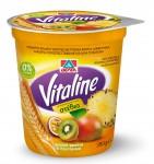 ΔΕΛΤΑ Vitaline επιδόρπιο άπαχου γιαουρτιού με τροπικά φρούτα & δημητριακά 380g